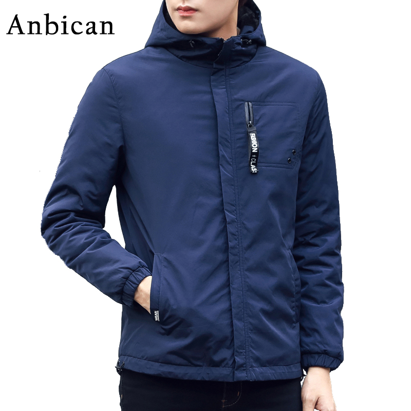 Anbican Fashion Blue Mens Winter Parkas 2017 Brand New Thick and Warm Winter Jacket Men Windproof Snow Coat Plus Size M-XXXL free shipping winter parkas men jacket new 2017 thick warm loose brand original male plus size m 5xl coats 80hfx