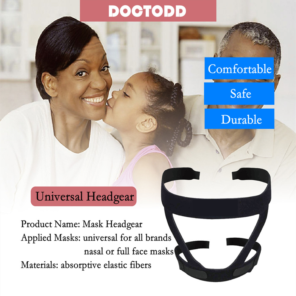 Headgear for Nasal Mask Full Face Mask Elastic Fiber Headgear Universal for All Nasal and Full Face Mask in Sleep Snoring from Beauty Health