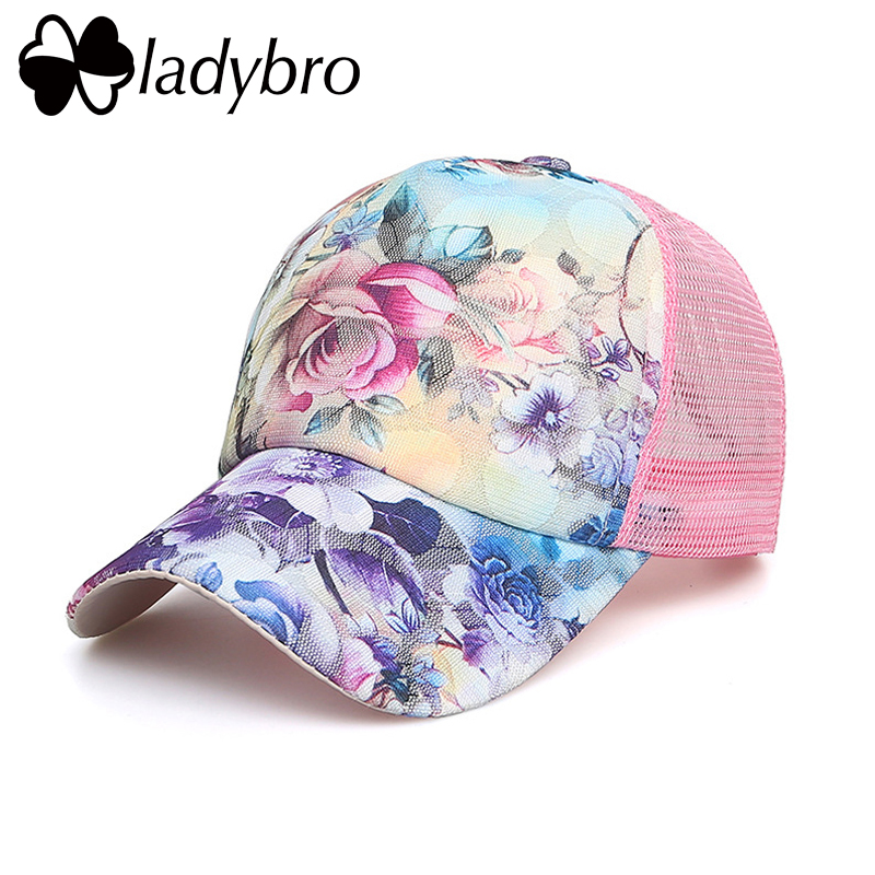 Ladybro Brand Femeile Hat Hat Cap Femeie Casual Lace Net Cap Trucker - Accesorii pentru haine