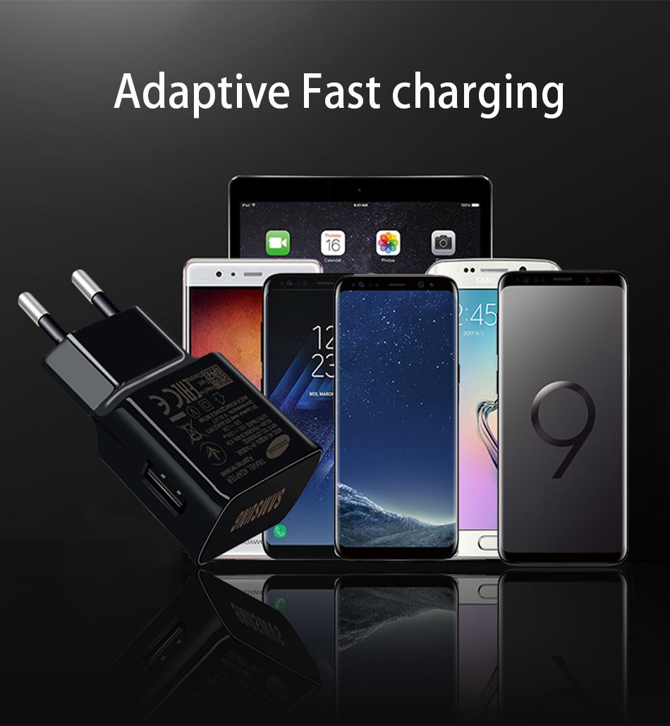9Samsung S8 S9 plus Original Fast Charger 1.2m USB Type C Cable 15W 9V1.67A  Wall Adapter EUUSUK Note8 S 9 S 8  C5 C7 C9pr_