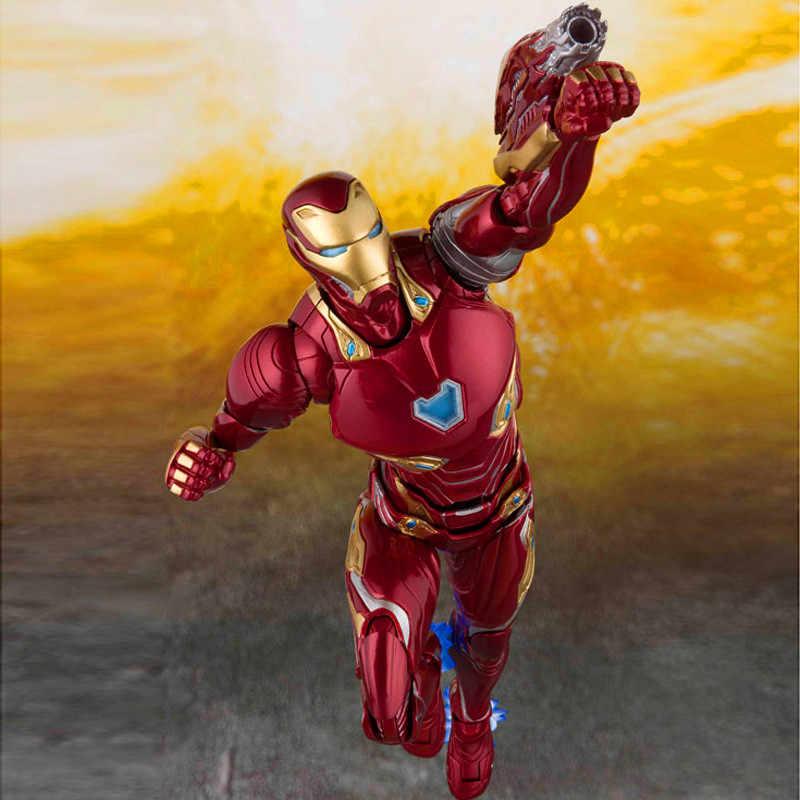 16 CM los Vengadores 3 Infinity War MK50 figura de Anime muñecas conjunto móvil Iron Man figura de acción modelo de lucha con caja de M43