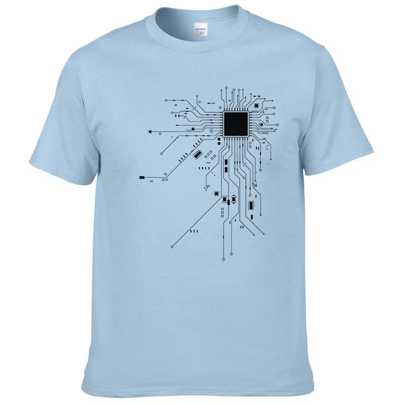 Computer CPU Core Heart T-Shirt Men's GEEK Nerd Freak Hacker PC Gamer Tee Summer Short Sleeve Cotton T Shirt Euro Size #303 5