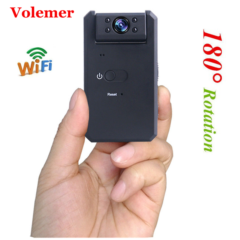 Volemer Md90 Wifi Mini Camera Hd 4K Micro Cam Home Security Ir Night Vision Motion Detection
