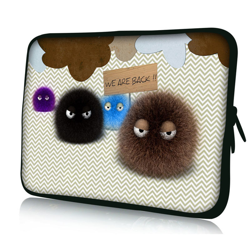 Fuzzy Ball Laptop Sleeve Case For Macbook Laptop AIR PRO Retina 8 11,12,13,15 17inch, Notebook Bag 14 ,13.3,15.4