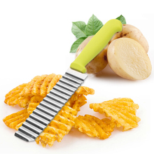 New Kitchen Potato Slicer Cutters Small Size Stainless Steel Chips Cut Knife Slicers Cooking Tools Reusable
