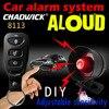 Ein weg, auto alarm sirene Anti-scratch, scratch fernbedienung neue DIY Auto zubehör Einstellbare empfindlichkeit 12V DC CHADWICK 8113