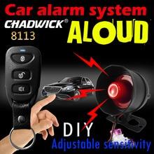 One way car alarm siren Anti-scratch, scratch remote control new DIY Car accessories Adjustable sensitivity 12V DC CHADWICK 8113