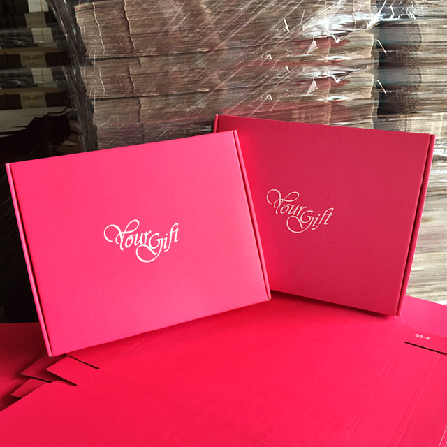 s1 s4 good quanlity red red kraft paper box 9 sizes can be choose