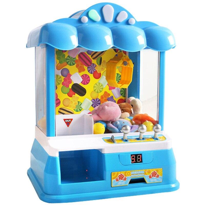 Desktop Mini Dolls Grabber Machine Children's Came Machine Music Electric Vending Machine Funny Doll Grabber Novelty Funny Toys grabber warmers ultra
