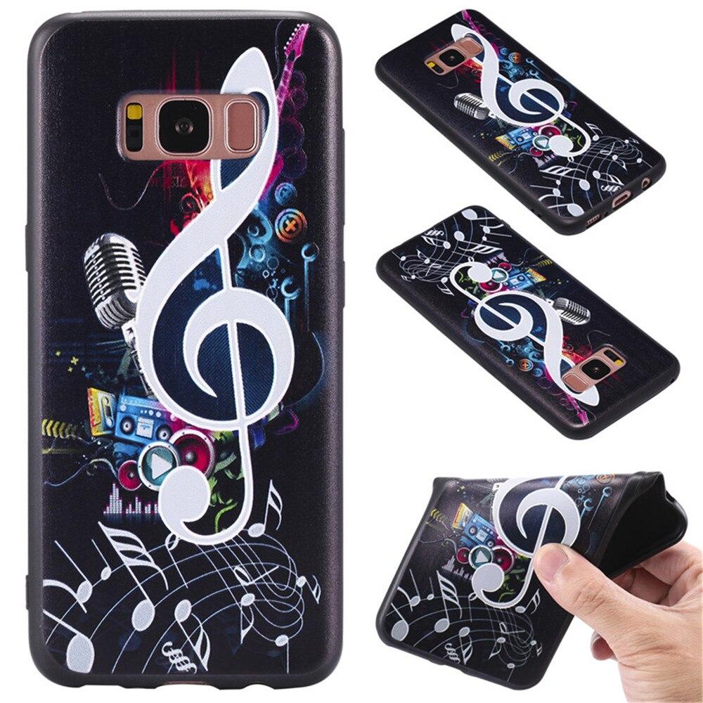 Mode Musique Motif Tpu Étui En Silicone pour Samsung Galaxy S8 Plus s7 Bord J5 J7 2016 Couverture Arrière En Caoutchouc Coque Shell