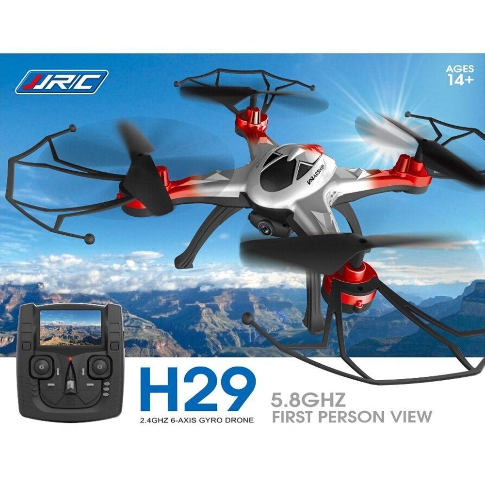 JJRC H29G Drone Dron 2.4GHz CF Mode 4 canaux 6 axes gyroscope hélicoptère 5.8G Transmission en temps réel 2.0MP CAM quadrirotor cadeaux jouet