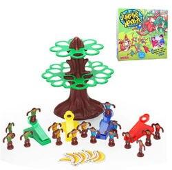 Juguete de plástico regalo mono saltarín árbol banana familia divertido juego interactivo 1 Juego