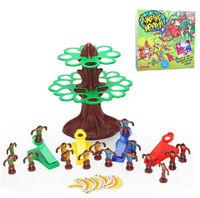 Plastic toy gift jumping monkeys tree banana family fun Interactive Game 1set
