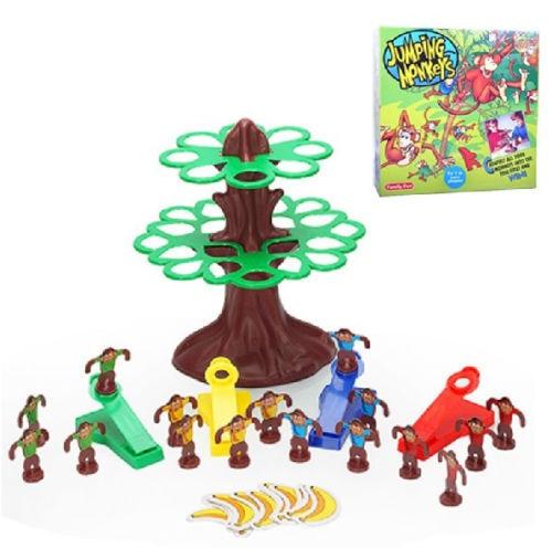 Plastična igračka darilo za skakanje opic drevo banana družina zabava Interaktivna igra 1set