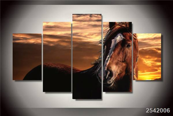 Hd Printed Sunset Sky Horse Painting Canvas Print Room Decor Print Poster Picture Canvas Free Shipping/Ny-2564 Christmas gift