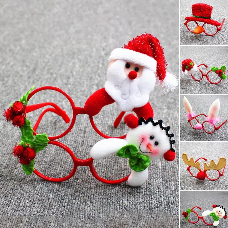 Men's Eyewear Frames 2018 Christmas Glasses Frame Cute Kids Adult Ornaments Cartoon Decor Evening Party Toy Child Eyeglasses Novelty Xmas Rabbit Gift Apparel Accessories