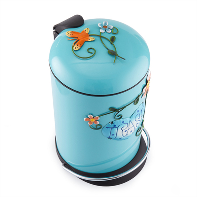 3D pattern Household trash can bathroom with foot pedal cute cartoon thick double living room bedroom