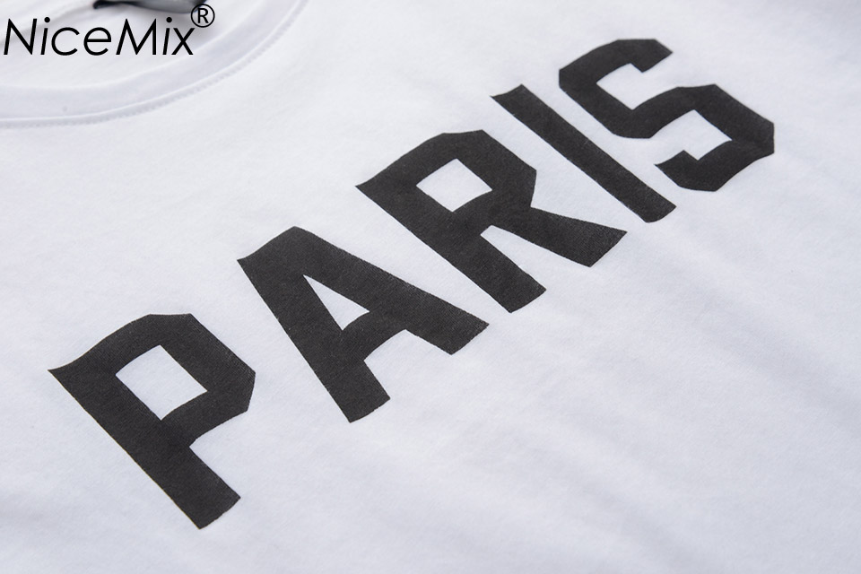 NiceMix Brand New Summer Women T shirt Printed Letters PARIS T Shirts O Neck Short Sleeve Loose Cotton Tee Shirt Femme 65006 in T Shirts from Women 39 s Clothing