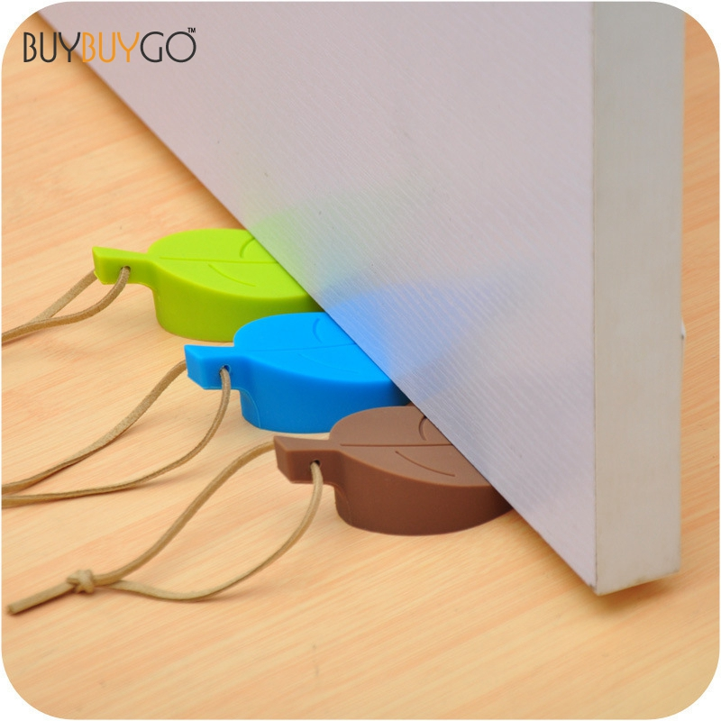 Hot New Silicone Leaves Gates Stopper Cute Leaf Style Doorways Stopper Finger Pinch Guard Baby Kids Children Door Safety Protect