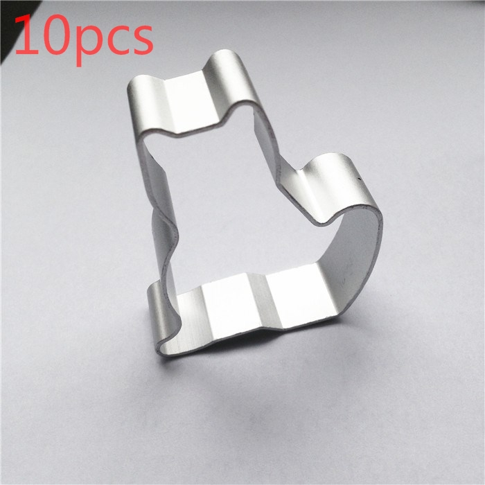Metal cutter Wedding Cake//Bow 4 x 4 inches Sturdy Cookie Cutter Silver Tone