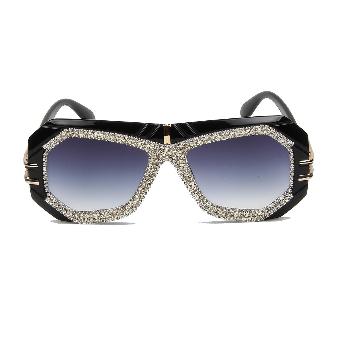 64f85ff17608c Luxury Women Vintage Rhinestone Oversize Pilot Sunglasses – Fomoloo