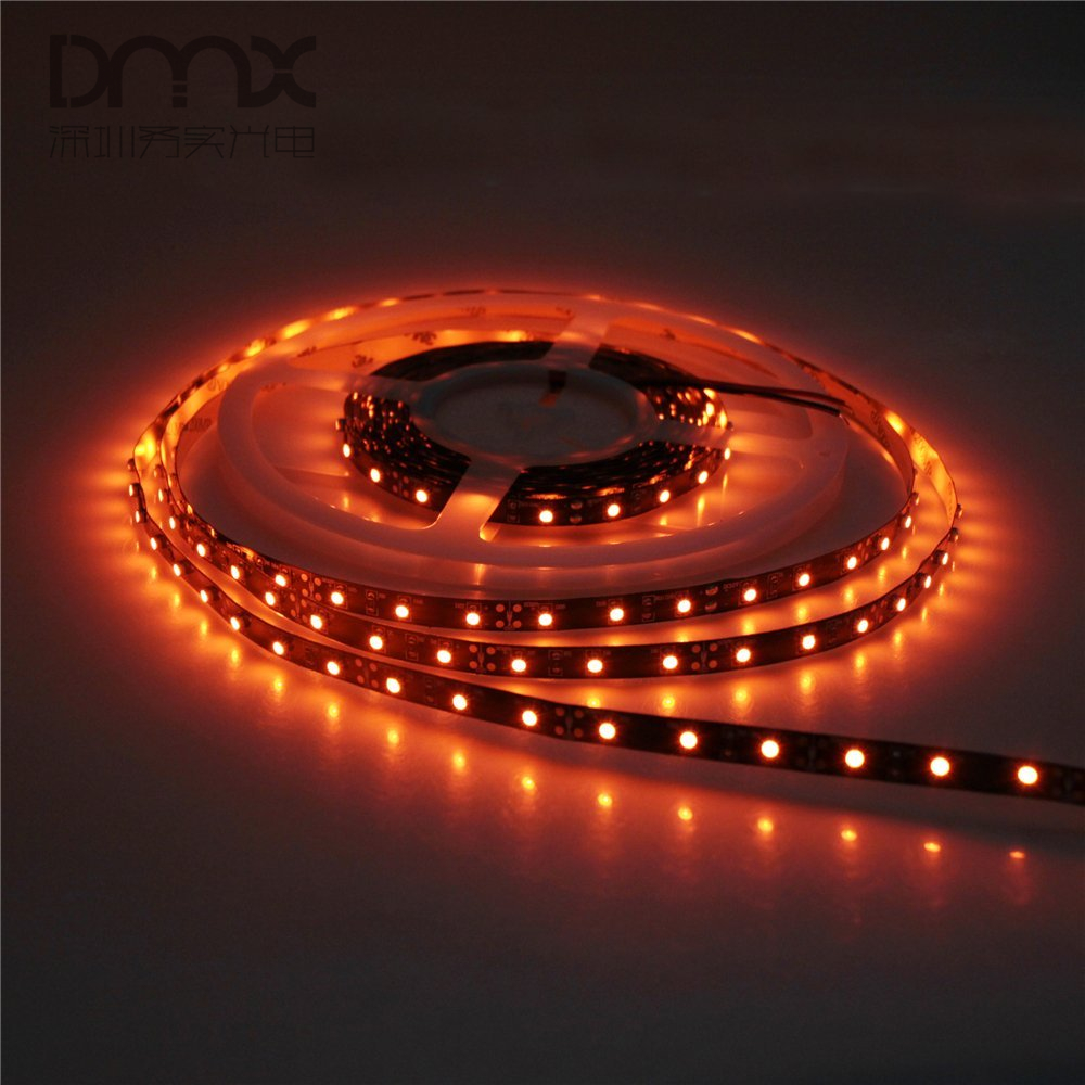 Mokungit 164ft 5m 3528 smd orange led flexible strip light lamp 300 mokungit 164ft 5m 3528 smd orange led flexible strip light lamp 300 600 leds non waterproof ip20 12v black pcb for home hotels in led strips from lights aloadofball Image collections