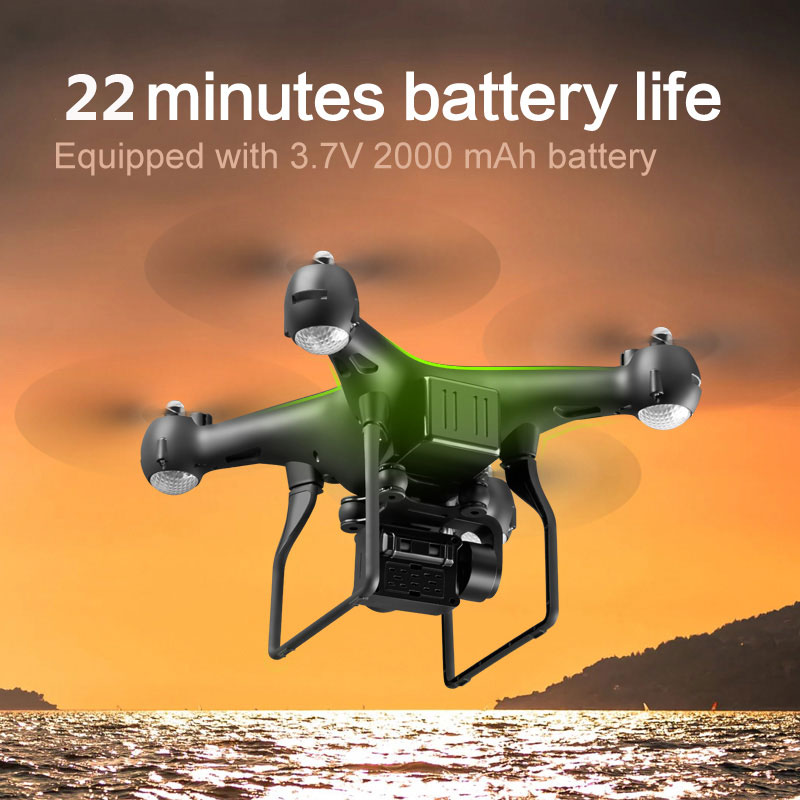 New RC Drone WIFI FPV 4K Adjustable Live Video Camera One Key Return Head-free App Control Altitude Hold Fly 25min RC Quadcopter
