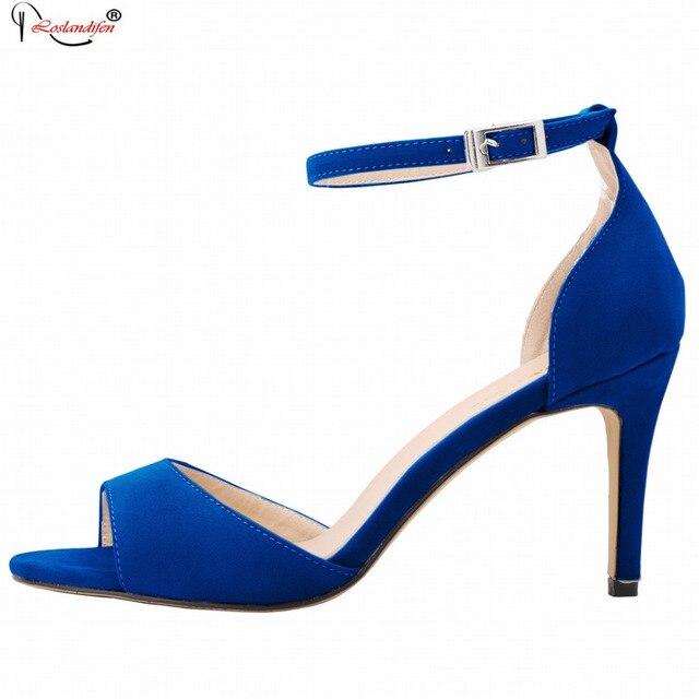 Chaussures à bout ouvert bleues femme Ds87Sv