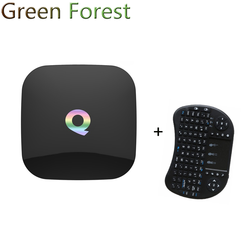 ФОТО Q Box 2GB 16GB Android 6.0 TV BOX Amlogic S905X 64bits KODI16.0 Gigabit LAN WiFi Bluetooth H.265 Media Player