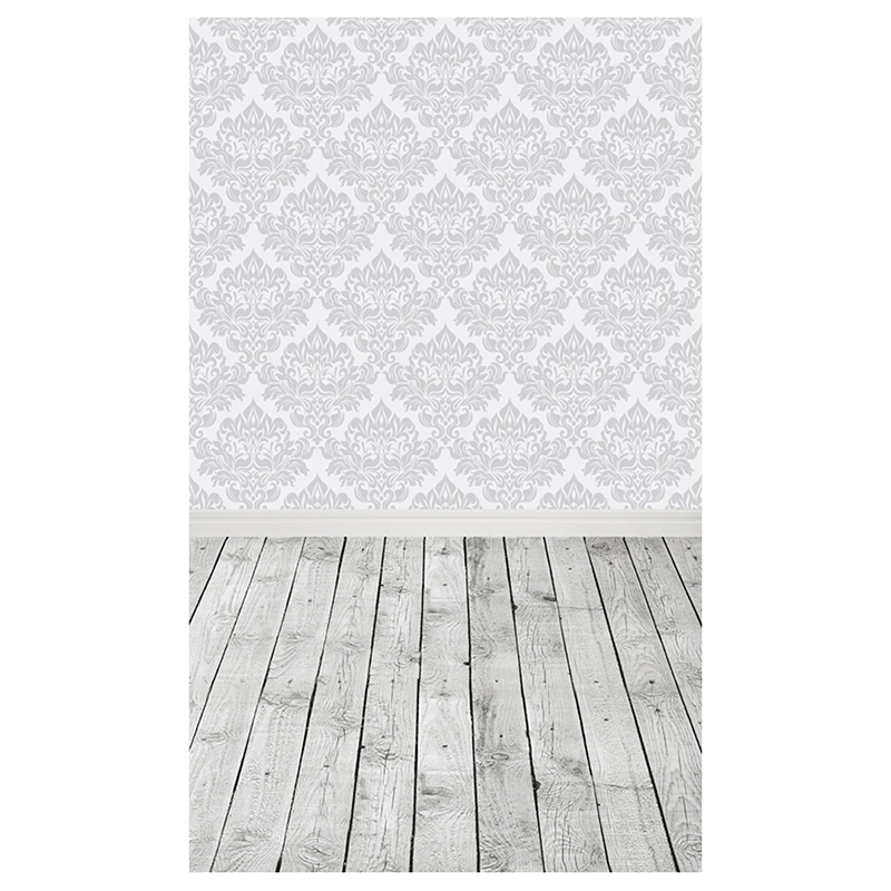 White+Gray Damask Wall Photography Backgrounds Newborn baby photo background for celebration baby cook costume photo photography prop white newborn hat aprons