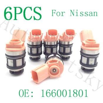 6PCS For Nissan Fuel Injectors Nozzle 166001800 166001801 For Nissan Frontier Pathfinder Xterra 3.3L INFINITI QX4 1996-2004