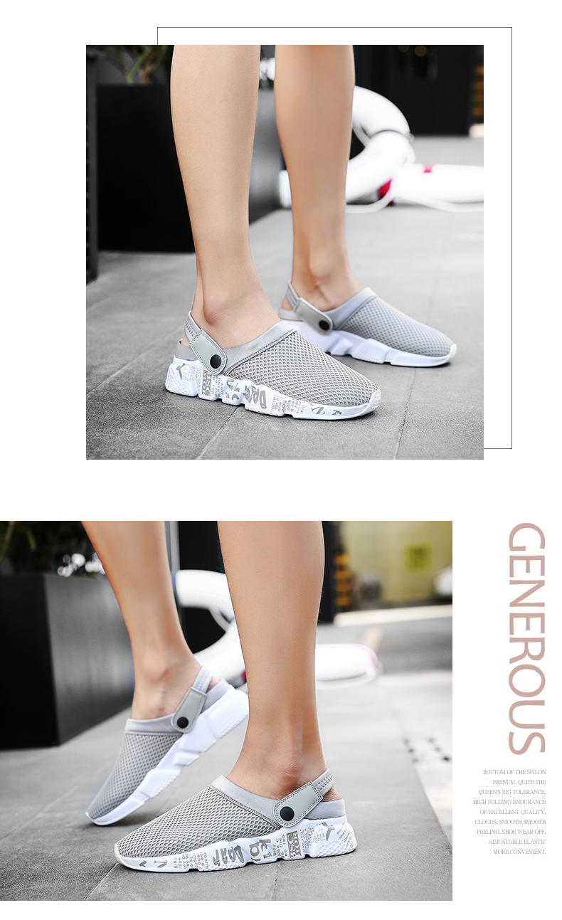 Sandals Men Slippers Air Mesh Shoes Mules Clogs (12)