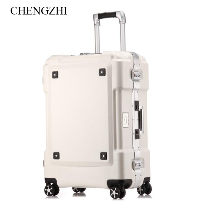 "CHENGZHI20""24""29""inch Aluminum frame spinner creative Travel luggage rolling suitcase on wheels"