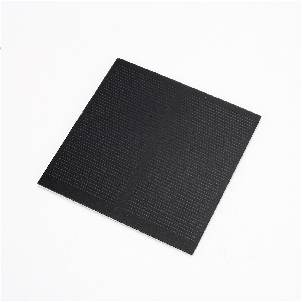 Amzdeal Frosted Glass Plate Fast Charger Solar Panel Solar Cell 5.5V 160mA 0.88W Solar Charger Pane Battery Cells 8*8cm