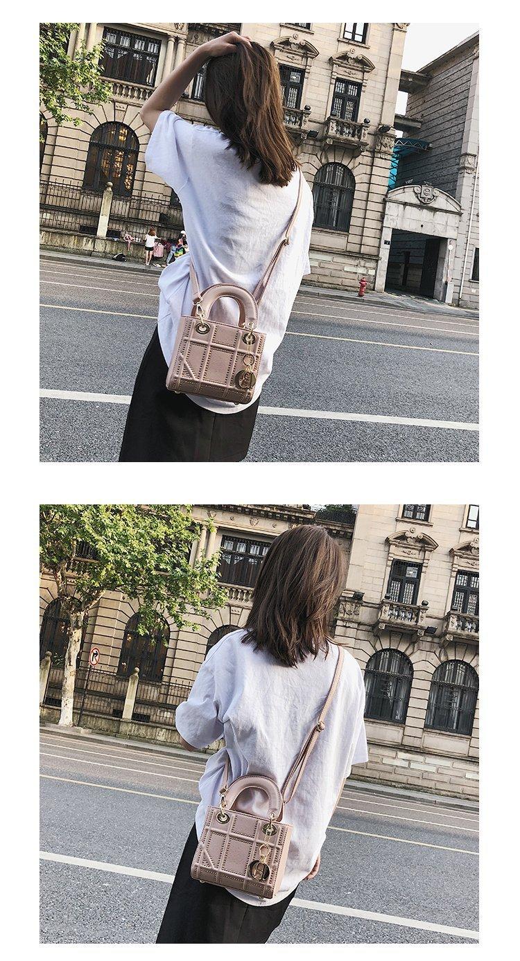 Small Rivet Ladies Hand Sling Crossbody Bags Women Leather Luxury Handbag Designer Female Shoulder Tote Bag Sac Main Pink Clutch 10