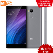 "Original Xiaomi Redmi 4 Pro Primer Snapdragon 625 4100 mAh 3 GB RAM 32 GB ROM FHD 5.0 ""13.0MP OTA MIUI 8.1 Xiomi Redmi4 Teléfono Móvil"
