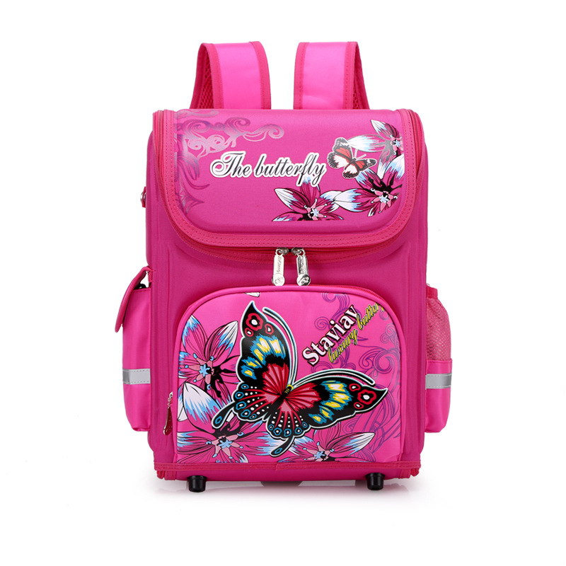 Kids Cartoon School Backpack EVA Folded Orthopedic Children School Bags For Girls Butterfly School Backpacks Mochila Infantil