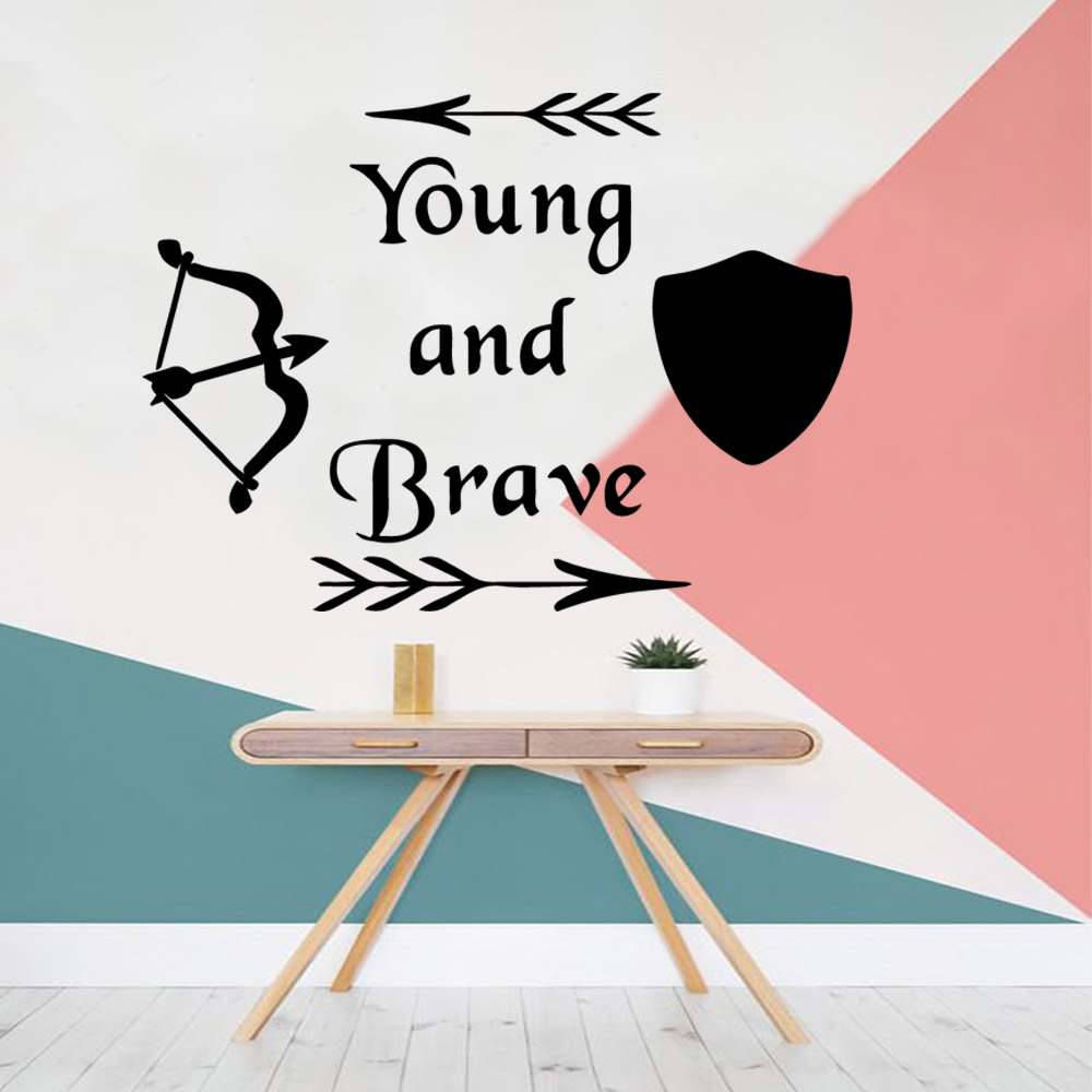 Cute young and brave Wall Sticker Home Decoration Accessories for Living Room Company School Office