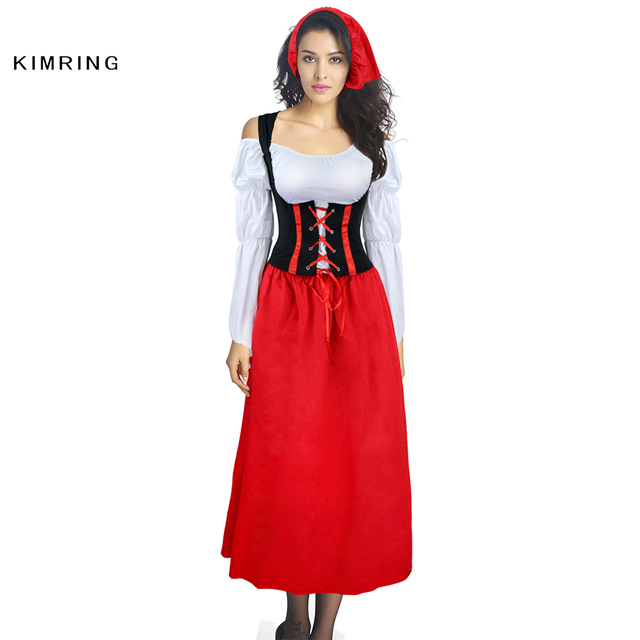 Kimring Sexy German Wench Oktoberfest Costume Cosplay Plus Size Beer