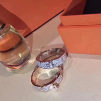 Hot Brand Pure 925 Sterling Silver Jewelry For Women Lock Rings Lock Design H Silver Rings Wedding Jewelry Party Luxury Rings