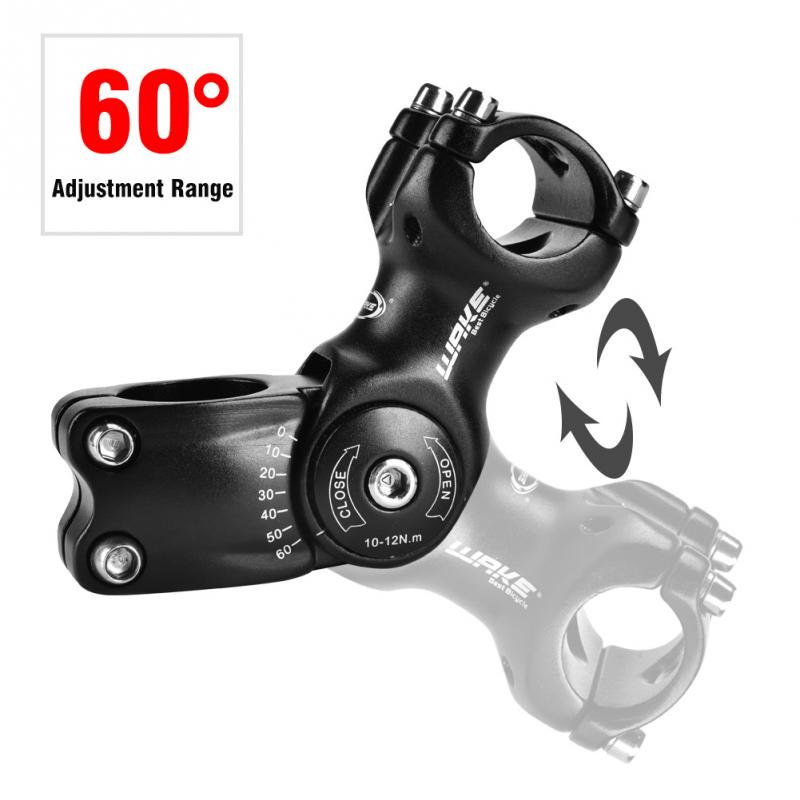 Alloy Adjustable 60 Degree Bicycle Stem Handlebar Riser 31.8mm Road Bike Stem