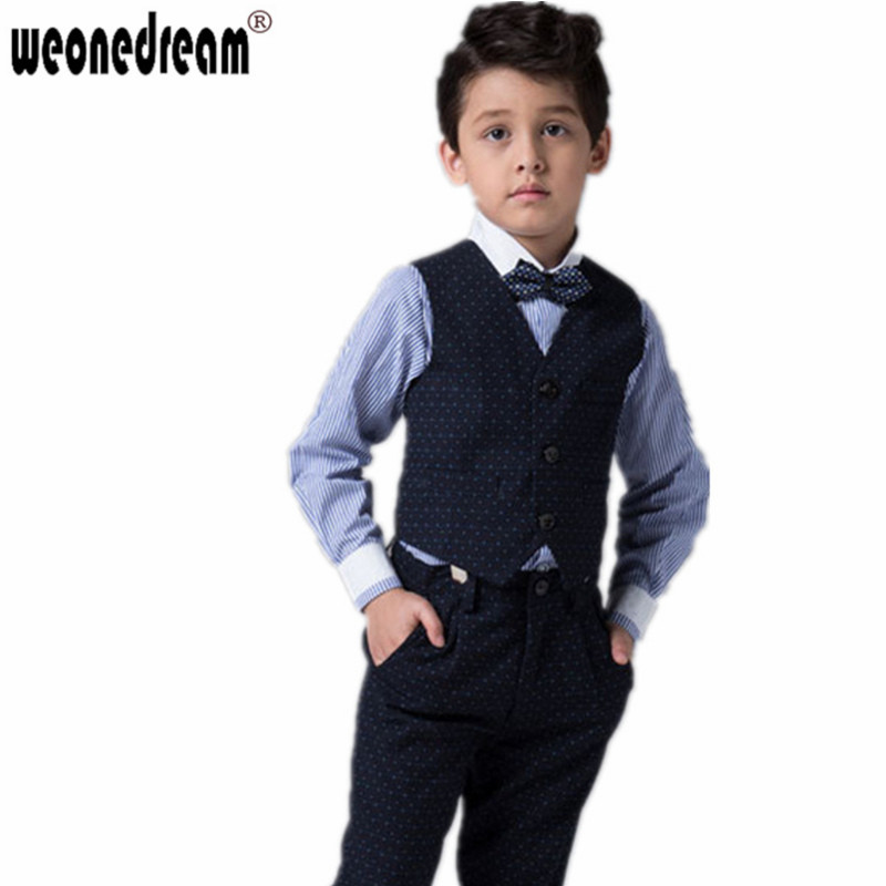Toddlers boys tuxedo size 4t. Includes coat, pants, vest, shirt, bow-tie. There is one button missing on shirt. From smoke and pet free home.