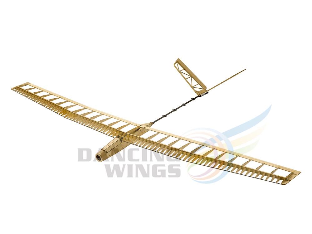 RC Plane Glider 1.4M Balsa Wood Airplane Model Building Kits UZI Radio Controlled Aircraft Flying Model Gliders Toy Planes F14 image