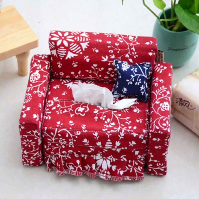 Creative Sofa Fabric Tissue Paper Box Living Room,Car Rolls Paper ...