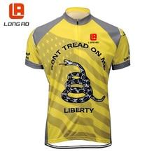 longao USA Style Cycling Jersey Tops Ropa De Camisa Ciclismo Short Sleeve Bike Clothing Sport Jerseys Cycling Shirt
