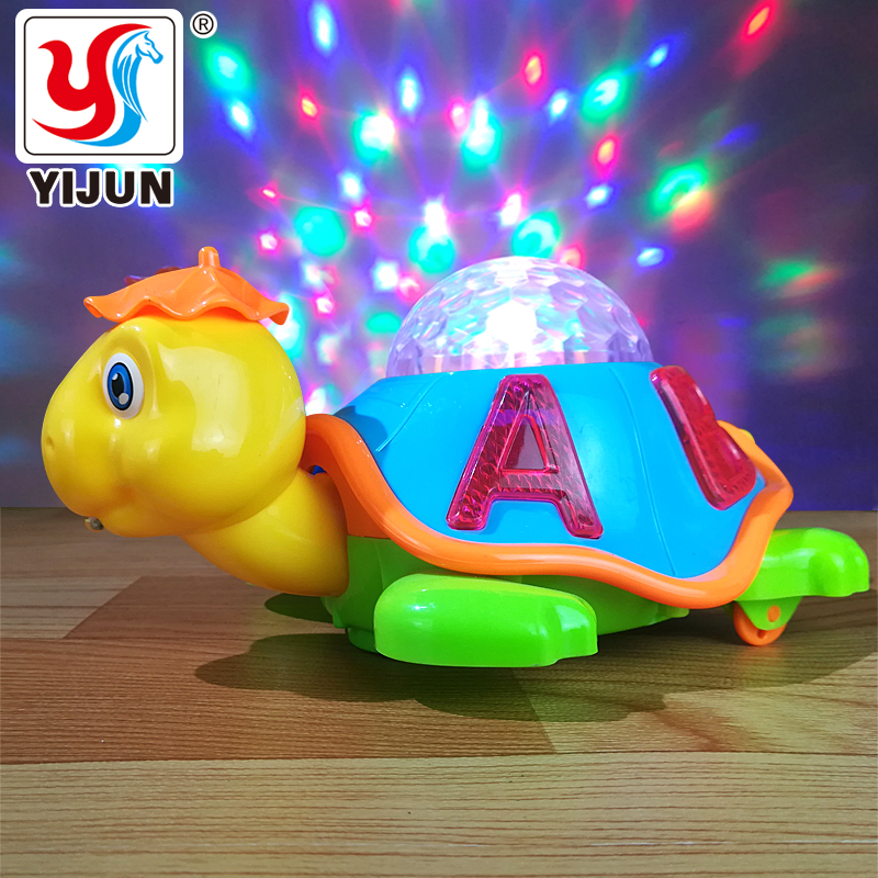 Baby Toy Cartoon Electric Turtle Baby Learning Toy Crawl Educational Toys With Music & Lights Educational Toys