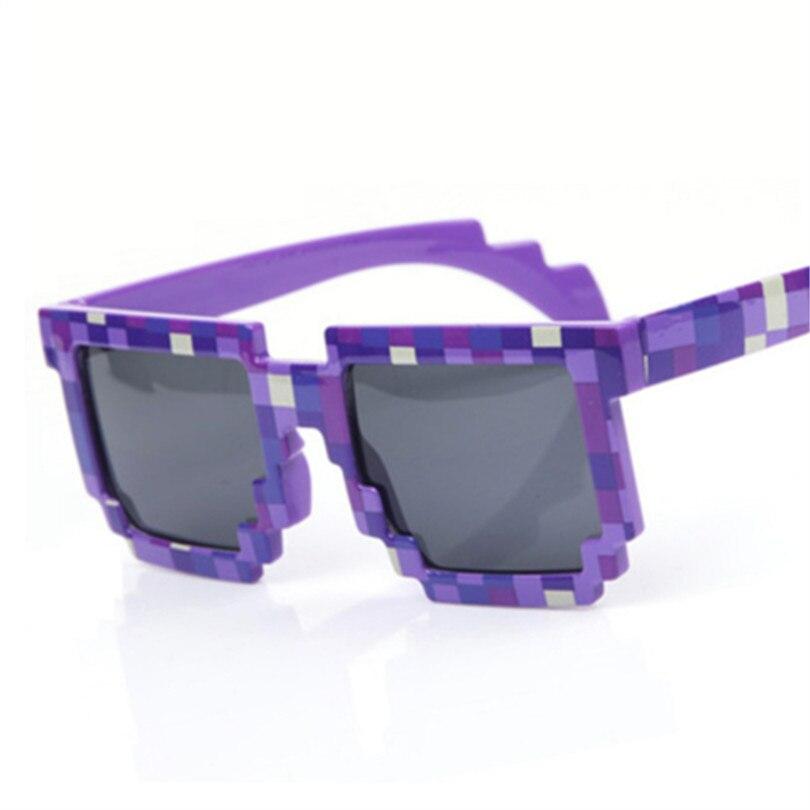 3740f98f0e Checker Sunglasses Women Men Pixel Mosaic Party Glasses Vintage Minecraft 8  bit Pixel Plaid Sun glasses