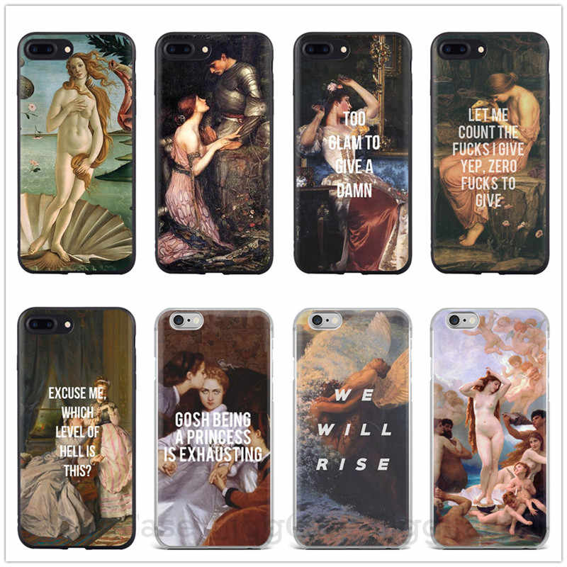 Artystyczny obraz narodziny wenus miękkie silikonowe etui na telefon dla iPhone 7 8 Plus 6 6s 5 5S SE X XR XS MAX John William Waterhouse Cover
