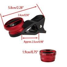 YIFUTE 5 in1 Mobile Phone Macro Fish Eye Lenses