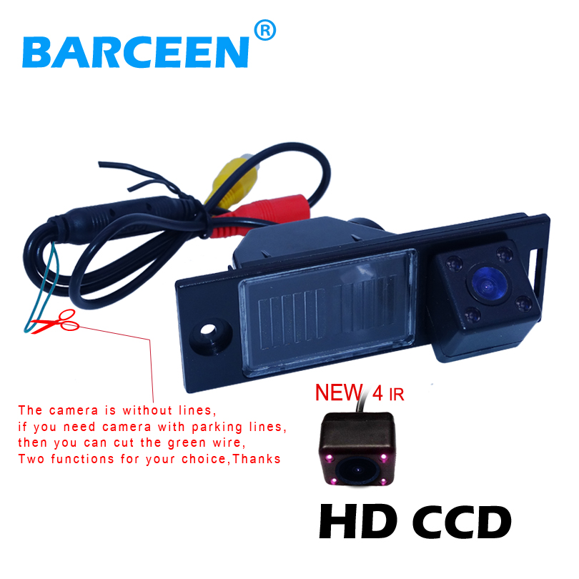 HD CCD image night vision car rear reserve camera original rainproof function +4 ir lamp use for Hyundai IX35 2014